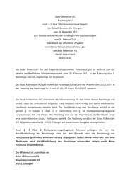 Solar Millennium AG Nachtrag Nr. 2 nach § 16 Abs. 1 ...