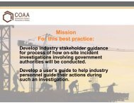 Incident Investigations Involving Government