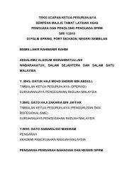 Ucapan Ketua Pesuruhjaya SPRM Sempena Majlis Perbarisan ...