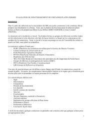 1 EVALUATION DU FONCTIONNEMENT DE CERTAINES PLATES ...
