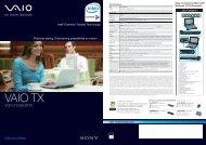 VAIO VGN-TX36GP/W - Sony Style