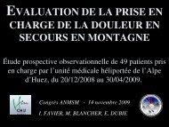Anlagésie UMH Huez - Association Nationale des Médecins du ...