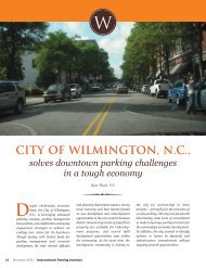 CITY OF WILMINGTON, N.C., - International Parking Institute