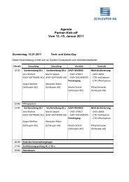 Agenda Partner-Kick-off Vom 13.-15. Januar 2011 - Schleupen AG