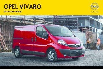 Opel Vivaro 2013 – Instrukcja obsługi – Opel Polska