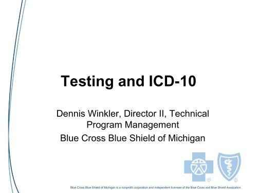 Dennis Winkler, BCBS Michigan - National Committee on Vital