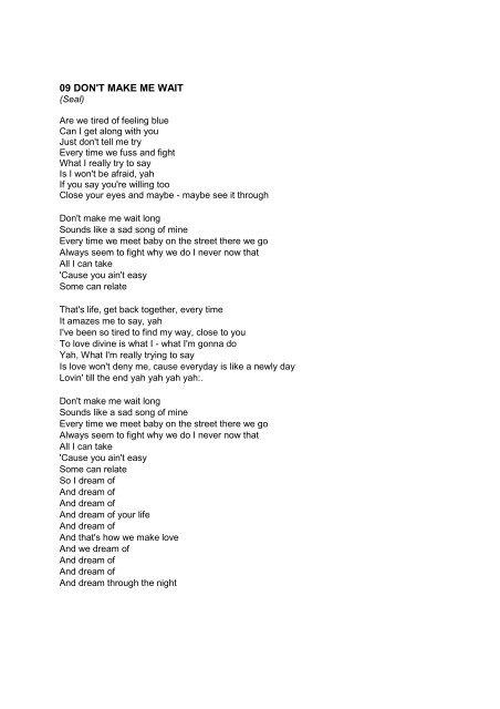 Baby can we meet lyrics