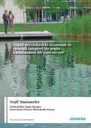 Yeşil+ Hastaneler Sağlık sektöründeki ekonomik ve ekolojik - Siemens