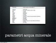 parametri acqua minerale - Legambiente