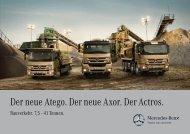Der neue Atego. Der neue Axor. Der Actros. - Mercedes Benz