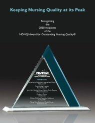 Keeping Nursing Quality at its Peak - American Nurses Association