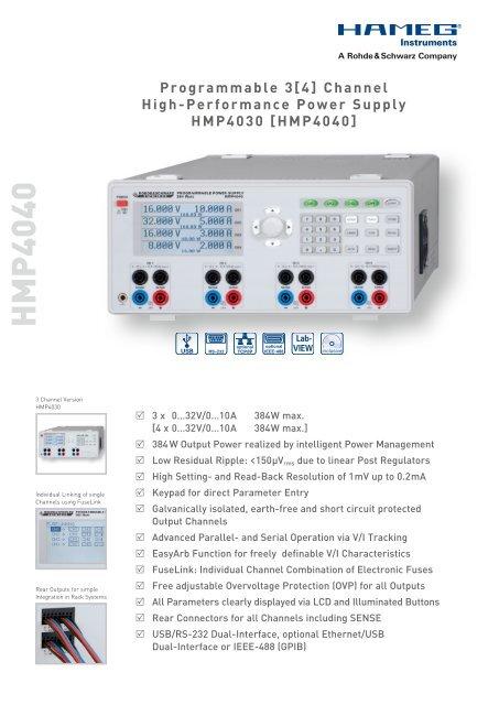 triple output linear power supply HAMEG - Ttms