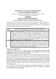 Notice Inviting Tender for the supply, installation ... - Assam University