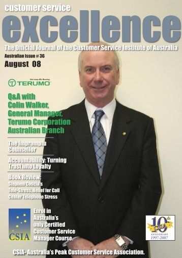 Issue 36 - Customer Service Institute of Australia