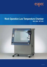 Work Operation Low Temperature Chamber - Xebex.jp
