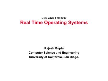 Real Time Operating Systems - MESL
