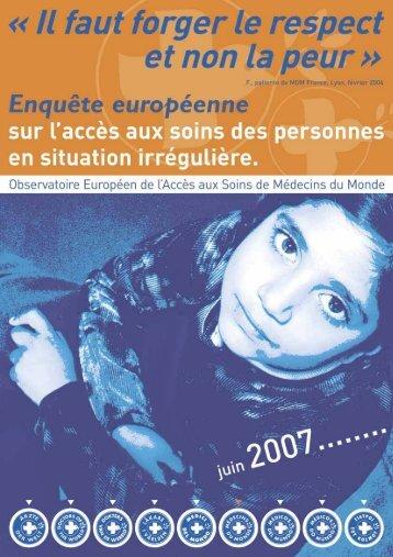 septembre 2007 - Médecins du Monde