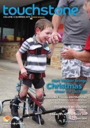 Touchstone Summer 2011 - Cerebral Palsy League