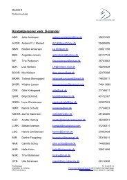 Kontaktpersoner ved D-Stævner - Distrikt 8