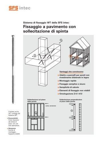 Fissaggio a pavimento con sollecitazione di  spinta - SFS intec
