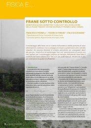 Frane sotto controllo - Società Italiana di Fisica