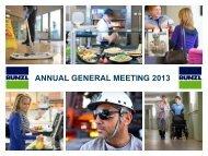 ANNUAL GENERAL MEETING 2013 - Bunzl