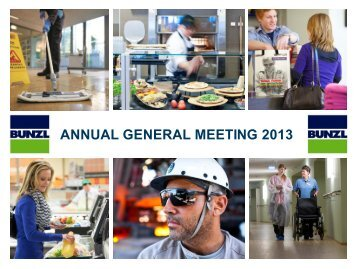 ANNUAL GENERAL MEETING 2013 - Bunzl