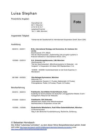 Atemberaubend Lebenslauf Für Bcom Absolventen Ideen - Entry Level ...