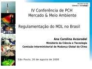 Atividades de Projeto do MDL no Brasil - Fórum Nacional de Energia