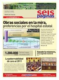 Obras sociales en la mira, - SeisPaginas