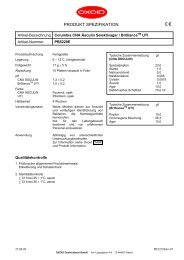 Oxoid Produkt-Spezifikation - mibius