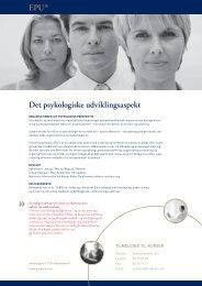 Det psykologiske udviklingsaspekt EPU ®