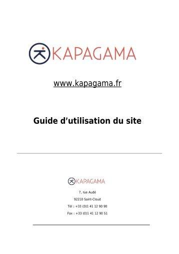 www.kapagama.fr Guide d'utilisation du site