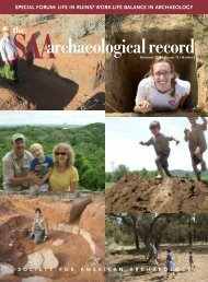 The SAA Archaeological Record - Society for American Archaeology