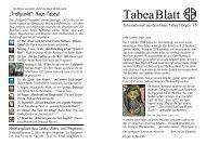 TabeaBlatt 18, Sommer 2007 - Haus Tabea