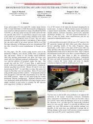 Broad Band Testing of Low Cost Filter Solutions ... - X2Y Attenuators