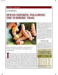 SPICES EXPORTS: FOLLOWING THE TURMERIC TRAIL