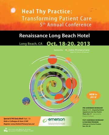 Renaissance Long Beach Hotel 20, 2013 - Holistic Primary Care