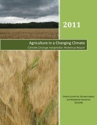 Climate Change Adaptation Workshop Report - Ontario Centre for ...