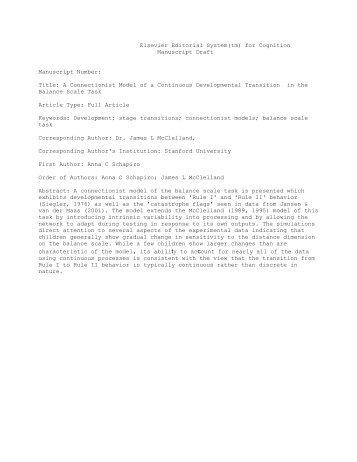 Elsevier Editorial System(tm) for Cognition Manuscript Draft ...