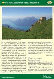 Panorama-Spazierweg Fronalpstock-Gipfel - Schwyzer Wanderwege