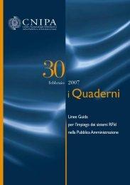 Linee Guida per l'impiego dei sistemi RFId nella ... - Archivio CNIPA