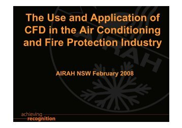 The Use and Application of CFD in the Air Conditioning and ... - Cham