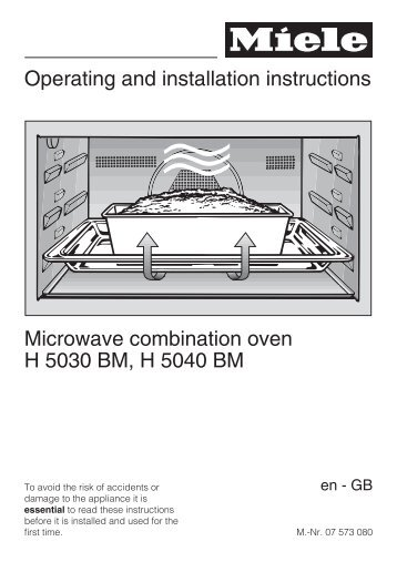 Operating And Installation Instructions Microwave Combination Oven