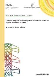 La stima del potenziale di biogas da biomasse di scarto del ... - Fiper