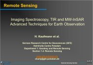 Remote Sensing: Imaging Spectroscopy, TIR and MW ... - Geo.X