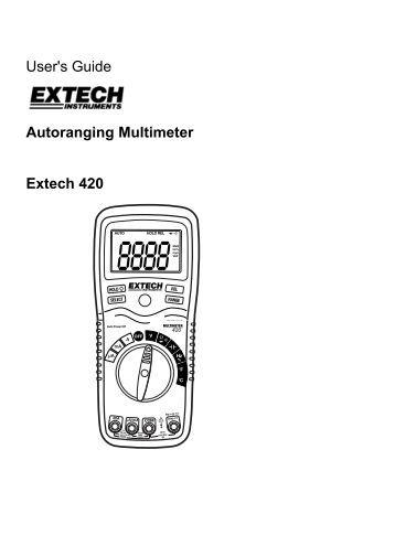 Extech DM110 Mini Pocket MultiMeter User Manual PDF