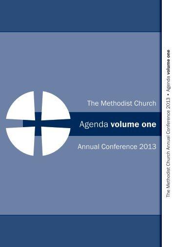 Agenda Volume 1 - Methodist Conference