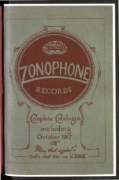 Zonophone Records Complete Catalogue 1917 - British Library ...