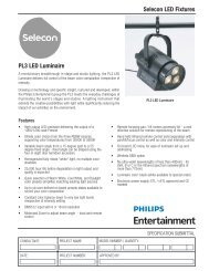 Selecon LED Fixtures PL3 LED Luminaire - Grand Stage Company